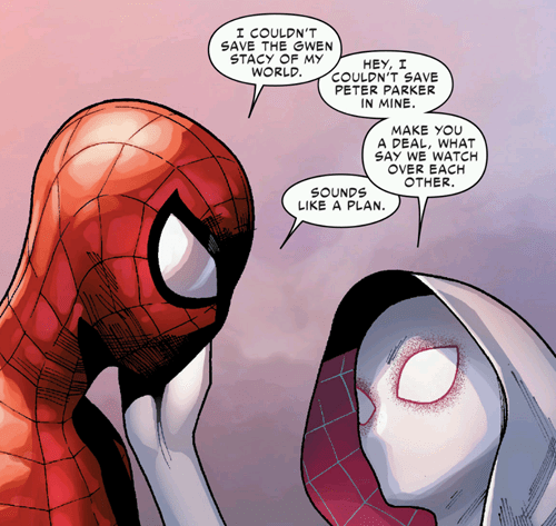 peter and gwen - spider