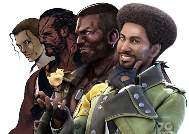 Black Male Gaming Characters - Face Structure